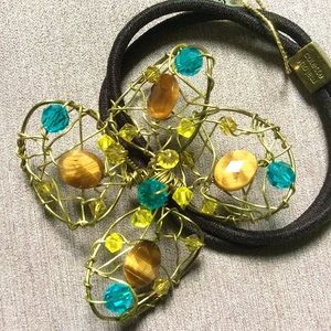 Colette Malouf Wire Flower Ponytail Holder Hairtie